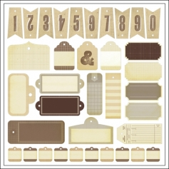 Studio Calico Die Cut Tags Classic Calico Vol 1 Collection
