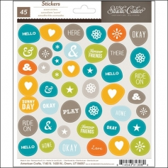 Studio Calico Accent Stickers Here and There Collection