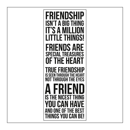 Kaisercraft Clear Stamp True Friendship