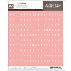 Studio Calico Tiny Alphabet Stickers Pink Sundrifter Collection