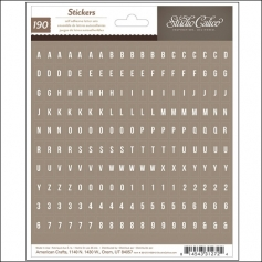 Studio Calico Tiny Alphabet Stickers Brown Sundrifter Collection