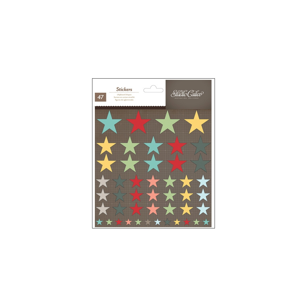 Studio Calico Chipboard Shapes Stars Snippets Collection