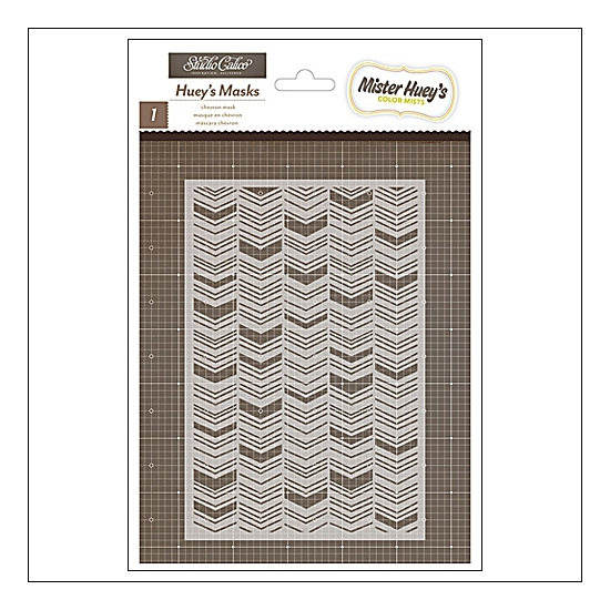 Studio Calico Mister Hueys Mask Chevron Here and There Collection