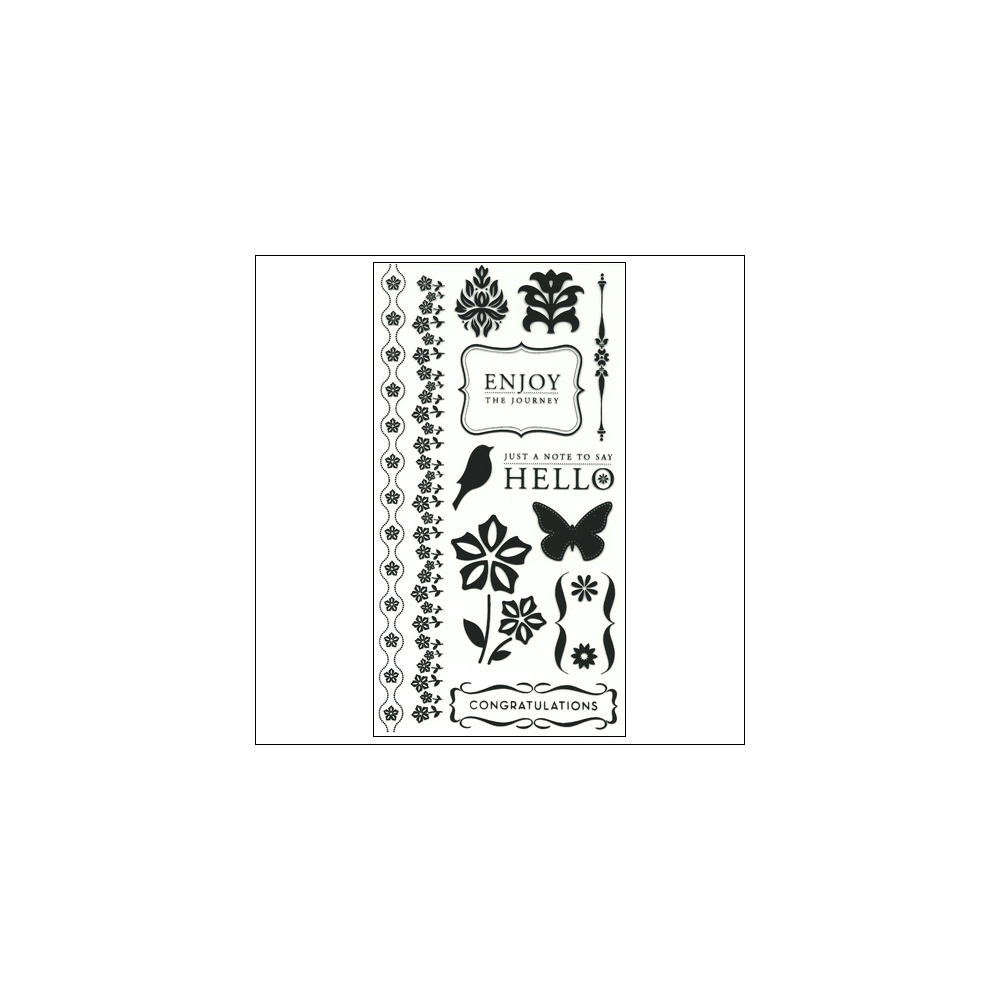 American Crafts Clear Stamps Enjoy Stamp Collection
