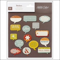Studio Calico Chipboard Shapes Speech Bubbles Darling Dear Collection