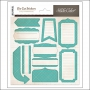 Studio Calico Label Sticker Sheet Teal