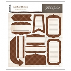 Studio Calico Label Sticker Sheet Brown