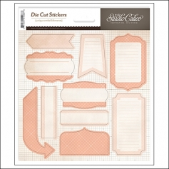 Studio Calico Label Sticker Sheet Pink