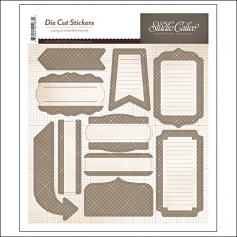 Studio Calico Label Sticker Sheet Gray