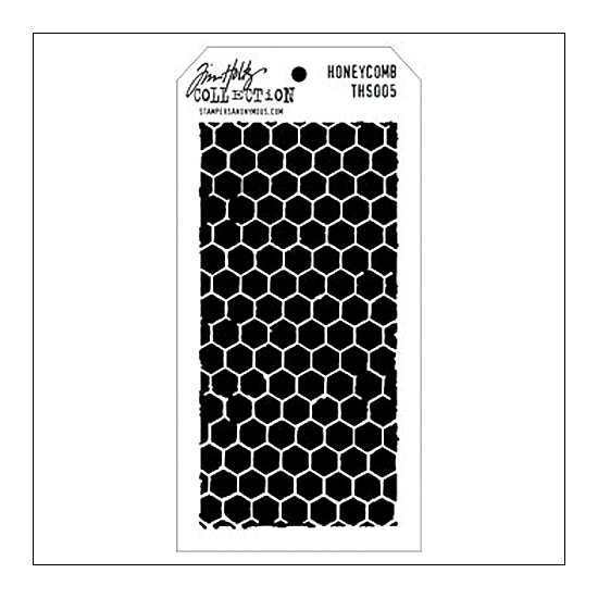 Stampers Anonymous Layering Stencil Honeycomb by Tim Holtz Collection