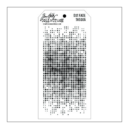 Stampers Anonymous Layering Stencil Dot Fade by Tim Holtz Collection