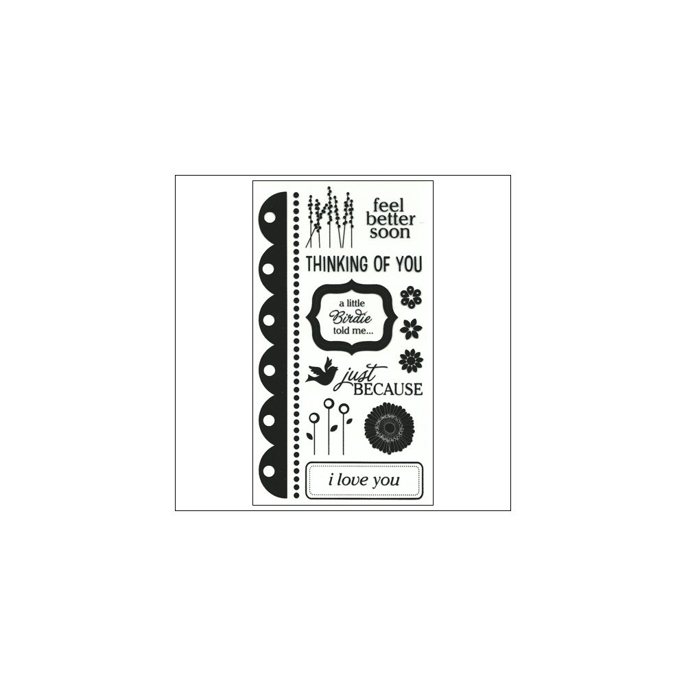 American Crafts Clear Stamps Sentiments Stamp Collection