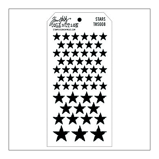 Stampers Anonymous Layering Stencil Stars by Tim Holtz Collection