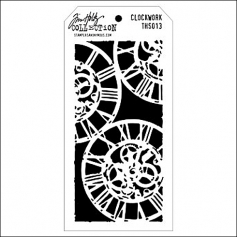 Stampers Anonymous Layering Stencil Clockwork by Tim Holtz Collection