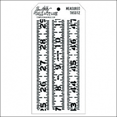 Stampers Anonymous Layering Stencil Measured by Tim Holtz Collection