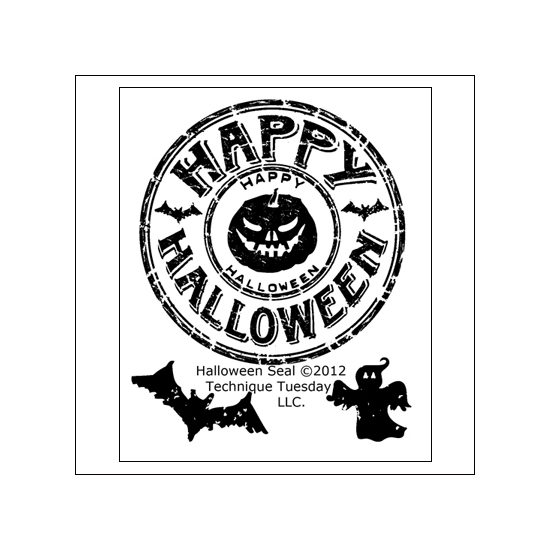 Technique Tuesday Clear Stamps Halloween Seal