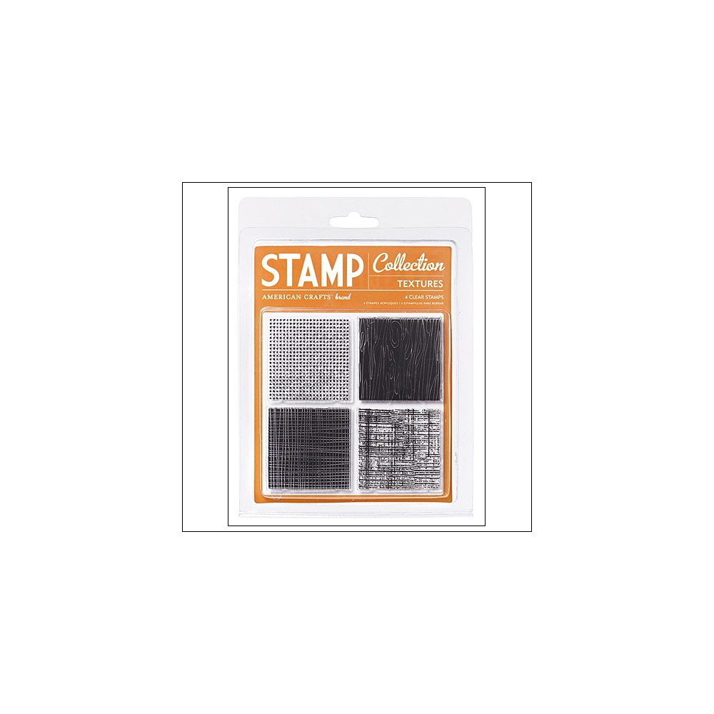 American Crafts Clear Stamps Textures Stamp Collection