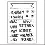 Technique Tuesday Clear Stamps Banner Months by Ali Edwards