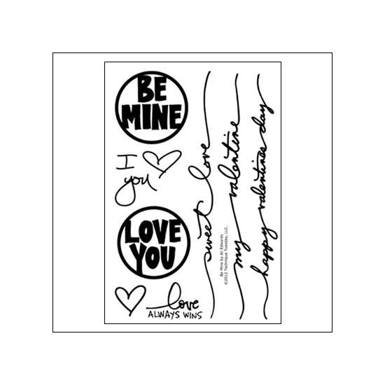 Technique Tuesday Studio AE Clear Stamps Be Mine January 2013 by Ali Edwards