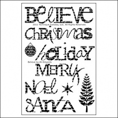 Technique Tuesday Clear Stamps Believe by Ali Edwards
