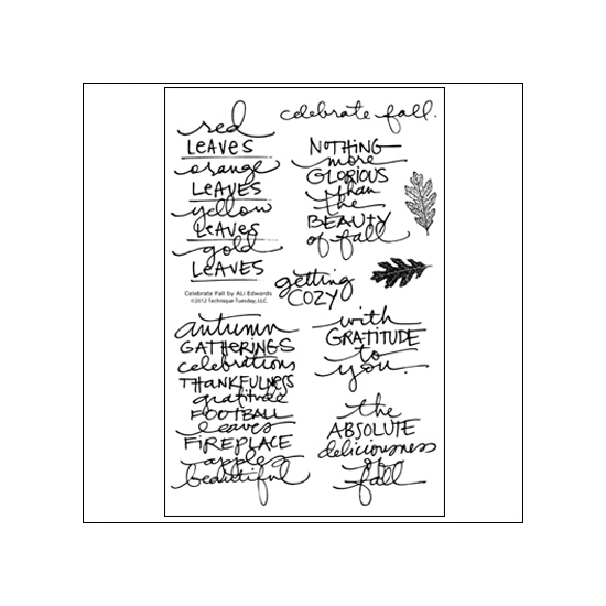 Technique Tuesday Studio AE Clear Stamps Celebrate Fall September 2012 by Ali Edwards