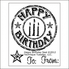 Technique Tuesday Clear Stamps Happy Birthday Seal