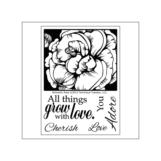 Technique Tuesday Clear Stamps Romantic Rose
