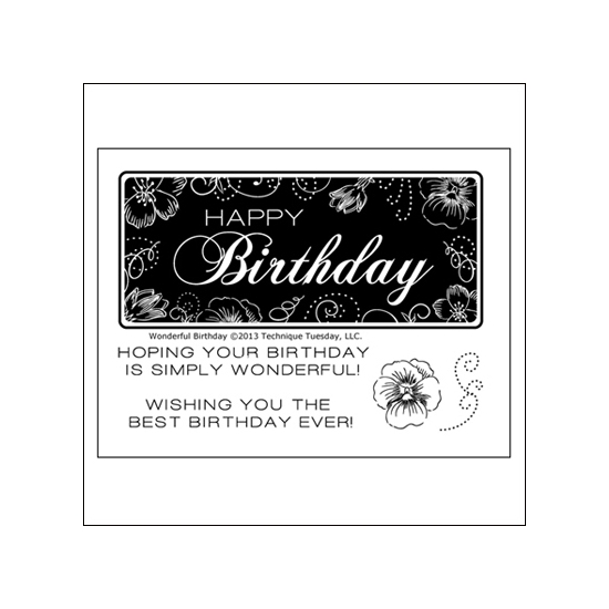 Technique Tuesday Clear Stamps Wonderful Birthday