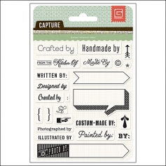 Basic Grey Clear Stamps Give Credit Capture Collection