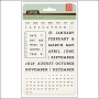 Basic Grey Clear Stamps Universal Calendar Capture Collection