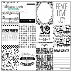 Websters Pages Clear Overlay Christmas Cards Its Christmas Collection by Allison Kreft