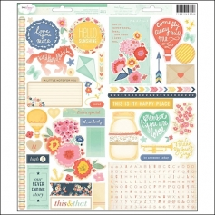 American Crafts Sticker Sheets Lucky Charm Collection by Dear Lizzy