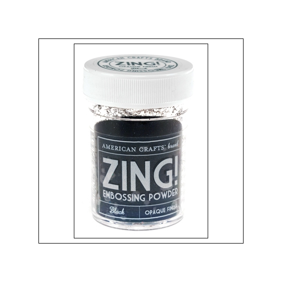 American Crafts Zing Embossing Powder Black Opaque Finish