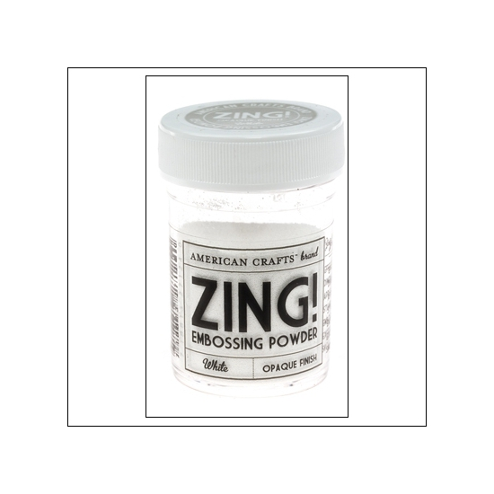 American Crafts Zing Embossing Powder White Opaque Finish