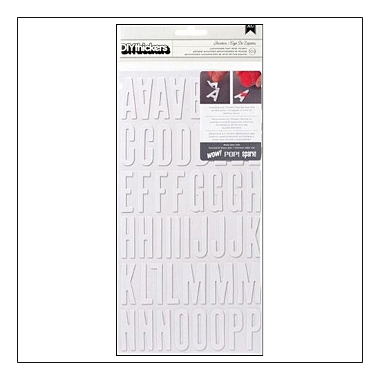 American Crafts Thicker Stickers DIY Foam Shoebox