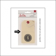 American Crafts Bits Envelope Tag Nippynose Number 1 Kringle and Co Collection