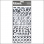 American Crafts Thicker Stickers Chipboard Hardcover Foil Silver