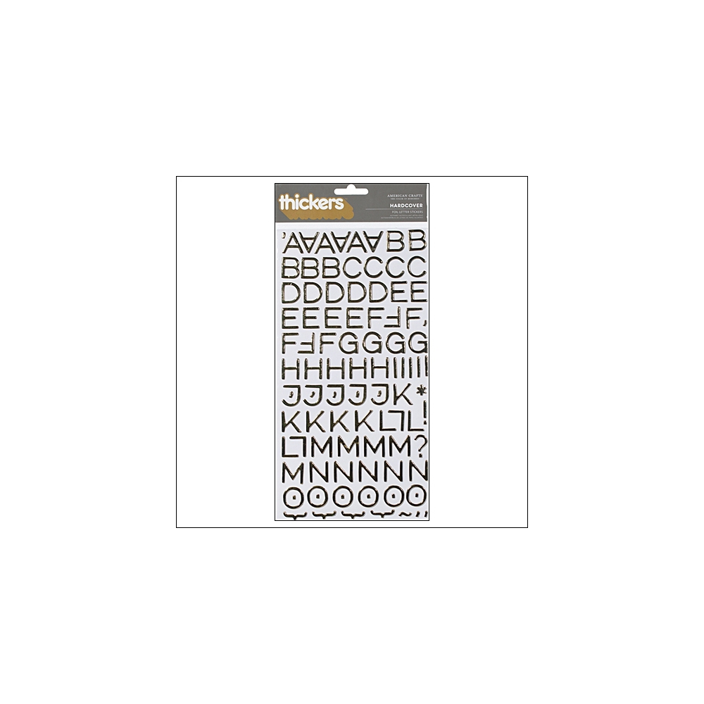 American Crafts Thicker Stickers Chipboard Hardcover Foil Gold