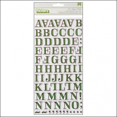 American Crafts Thicker Stickers Chipboard Gardenia Fern Grass