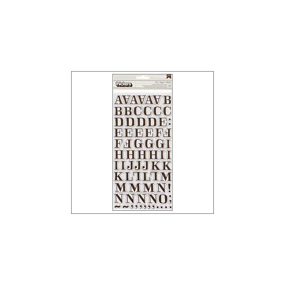 American Crafts Thicker Stickers Chipboard Gardenia Fern Chestnut