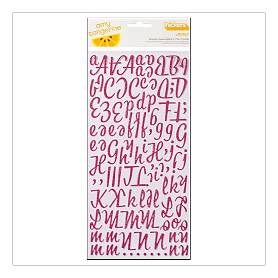 American Crafts Thicker Stickers Foam Rubber Lovely Mulberry Amy Tangerine Collection