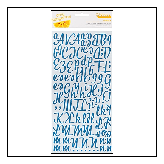 American Crafts Thicker Stickers Foam Rubber Lovely Peacock Amy Tangerine Collection