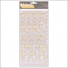 American Crafts Thicker Stickers Chipboard Fellow Yellow Peachy Keen Collection