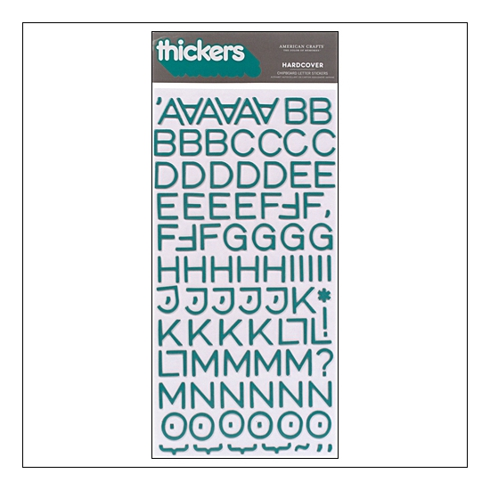 American Crafts Thicker Stickers Chipboard Hardcover Aquatic