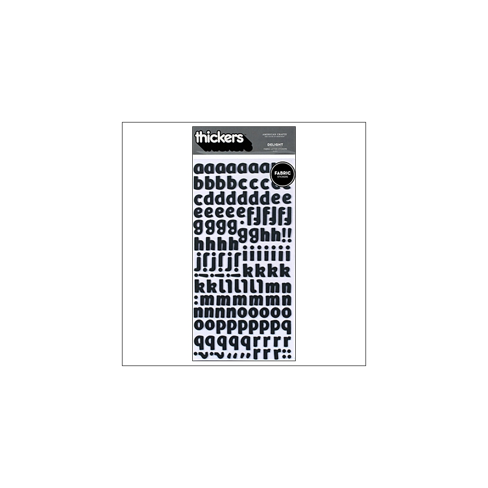 American Crafts Thicker Stickers Fabric Delight Black