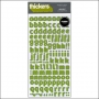 American Crafts Thicker Stickers Fabric Delight Leaf