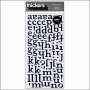 American Crafts Thicker Stickers Puffy Honey Black