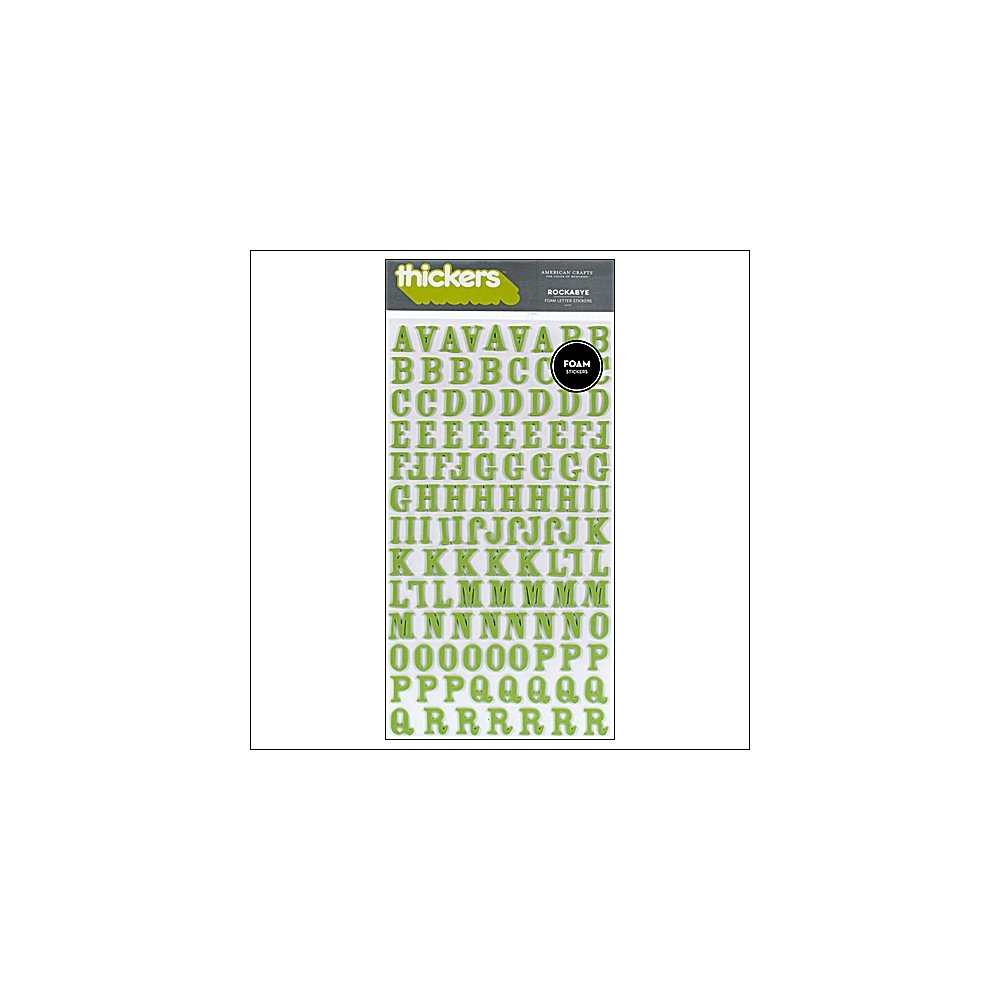 American Crafts Thicker Stickers Foam Rockabye Leaf