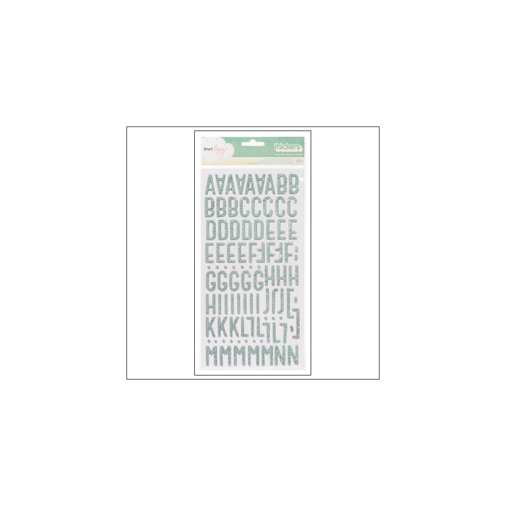 American Crafts Thicker Stickers Glitter Spray Treasure Spearmint Lucky Charm Collection by Dear Lizzy