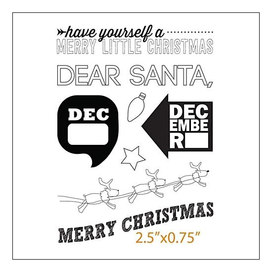 Evalicious Clear Stamp Set Dear Santa